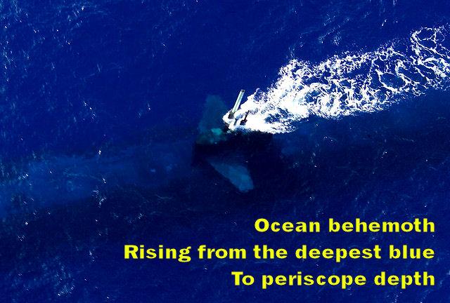 USS Key West at periscope depth during RIMPAC 2004